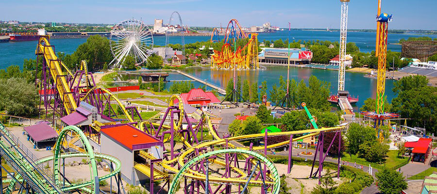 St. Helen's Island - La Ronde Amusement Park in Montreal