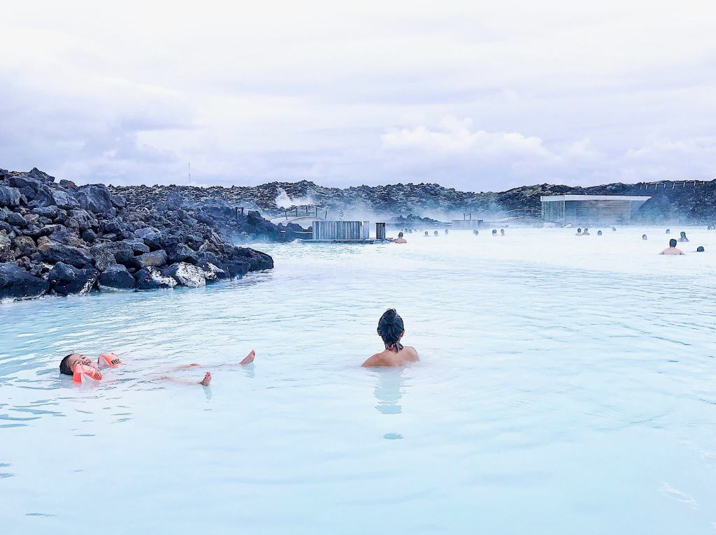 Swimming in the Blue Lagoon Reykjavik Iceland