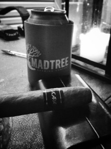 Beer and a cigar