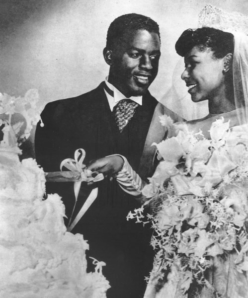 Jackie and Rachel Robinson
