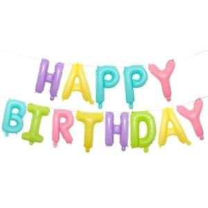 Globo Mylar Happy Birthday Multicolor