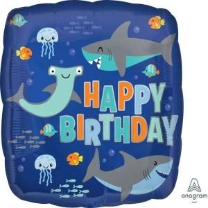 Globo Mylar Happy Birthday Tiburon