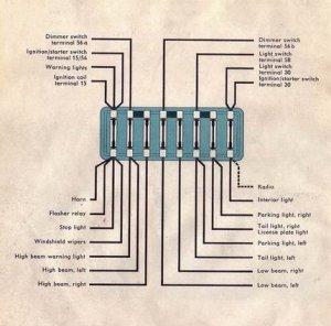 1964 Beetle Fuse box | TheGoldenBug