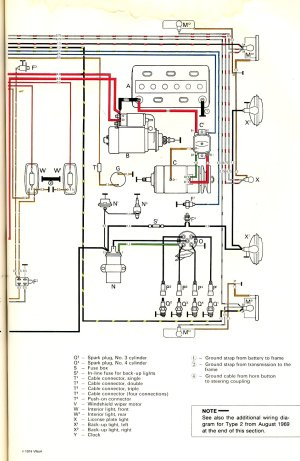 1970 Bus Wiring diagram | TheGoldenBug