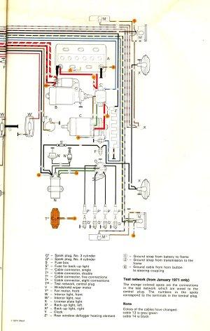 1971 Bus Wiring diagram | TheGoldenBug