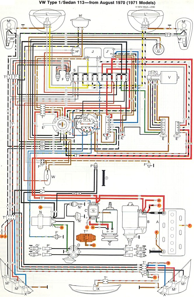 vw engine diagram com type wiring diagrams volkswagen bug volkswagen bug wiring harness for volkswagen auto wiring 1970 vw beetle wiring schematic wiring diagrams on