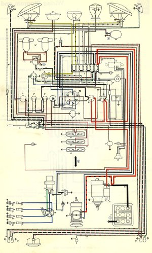 1963 Bus Wiring diagram (USA) | TheGoldenBug