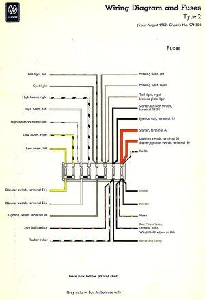 1963 Bus Wiring diagram   TheGoldenBug