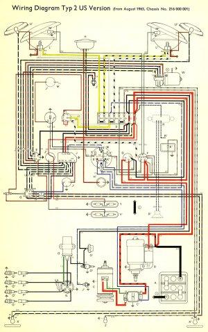 1966 Bus Wiring diagram (USA) | TheGoldenBug