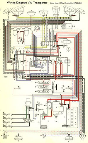 1967 Bus Wiring diagram | TheGoldenBug