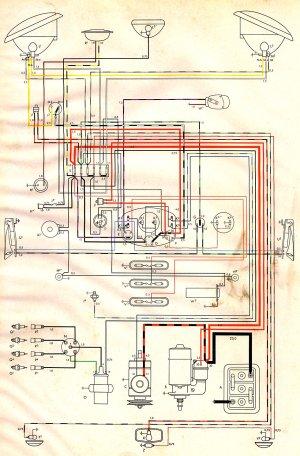 1954 Bus Wiring Diagram | TheGoldenBug