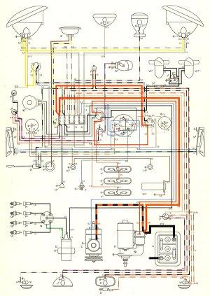 1957 Bus Wiring Diagram | TheGoldenBug