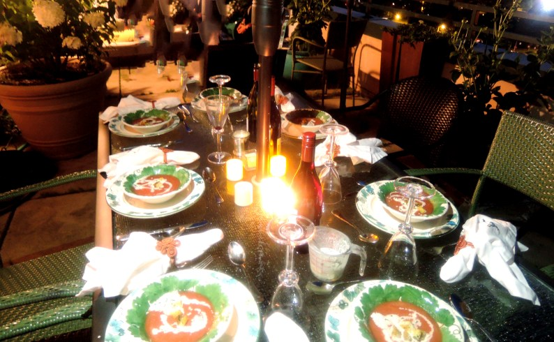 It was a perfect night for alfresco dining