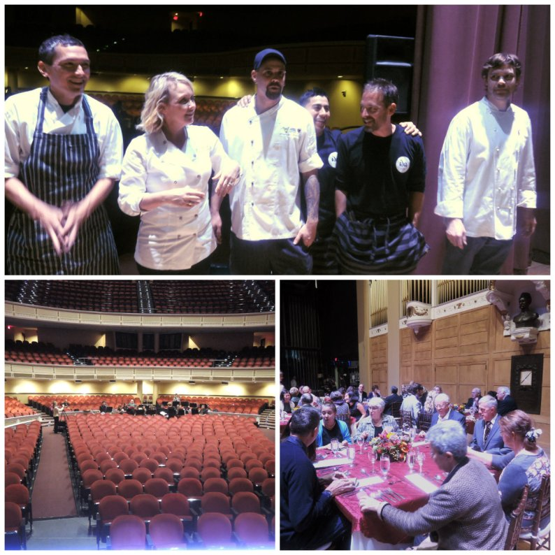 Top: participating chefs, left to right--Guy Hernandez, Shannon Bard, Josh Berry, Isaul Perez