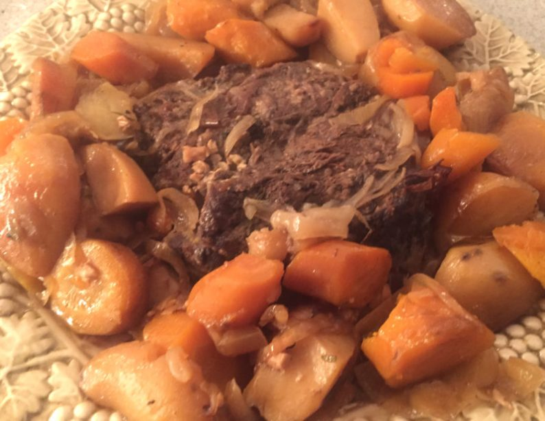The basic beef pot roast