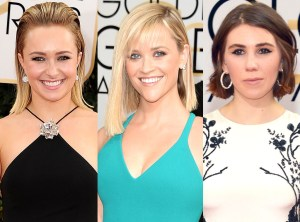 Red Carpet Trends from the 2014 Golden Globes Peinados Cortos Zosia Mamet TheGoldenStyle