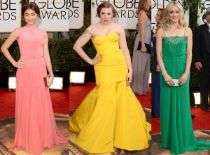 Red Carpet Trends from the 2014 Golden Vestidos colores vivos y brillantes TheGoldenStyle