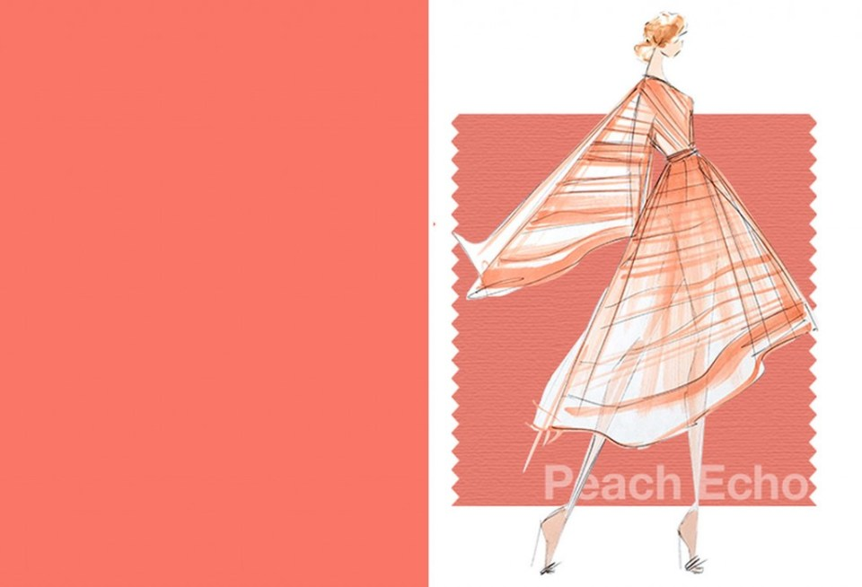 Tendencias color Primavera Verano 2016 Mujer TheGoldenstyle pantone-color peach-echo