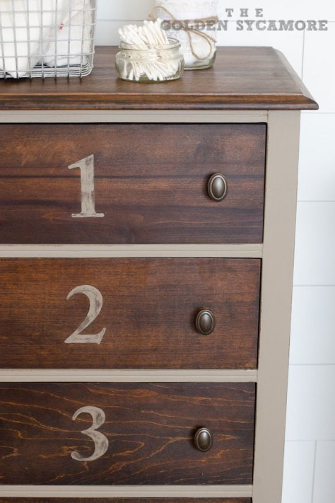 Numbered Bathroom Cabinet || The Golden Sycamore