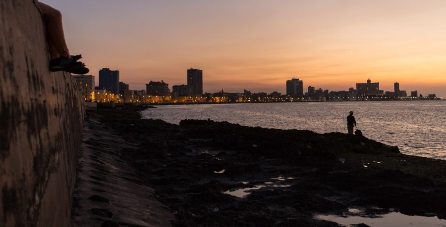 Sunset at the Malecon Sea Wall