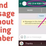 Send Whatsapp Message Without Saving Number – THE GONDAL