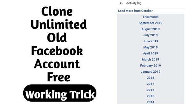 How to Clone Unlimited Old Facebook Id Working Trick - The Gondal