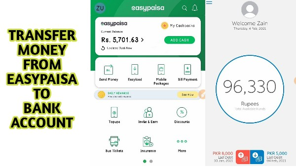 How To Transfer Money From EasyPaisa App To Bank Account - THE GONDAL