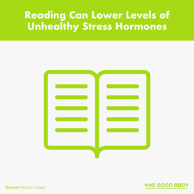 Reading Can Lower Levels of Unhealthy Stress Hormones