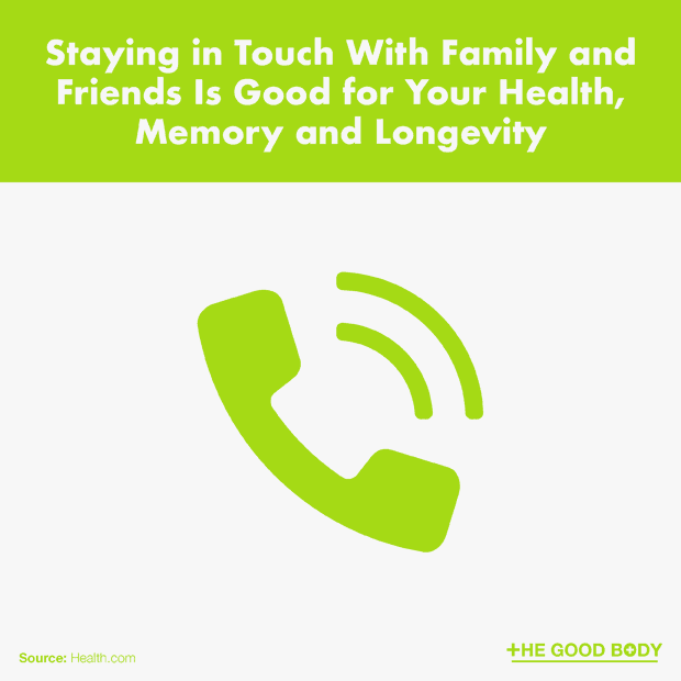 Staying in Touch With Family and Friends Is Good for Your Health, Memory and Longevity