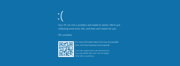 The Windows 2018 Blue Screen of Death