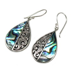 sterling silver and abalone shell earrings