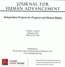 Journal For Human Advancement - Volume 1 Issue 1 - ISSN 2152-2766