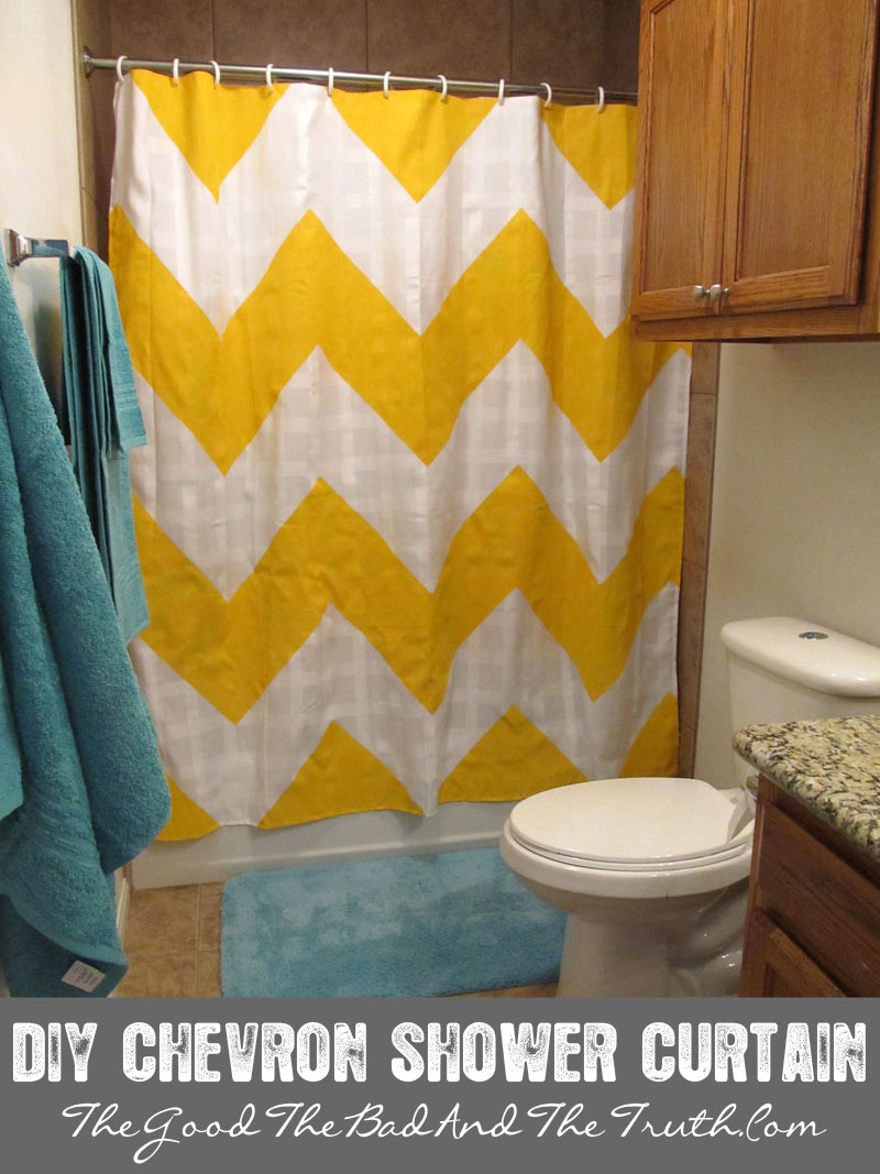 DIY Chevron Stripe Shower Curtain The Good The Bad And The Truth