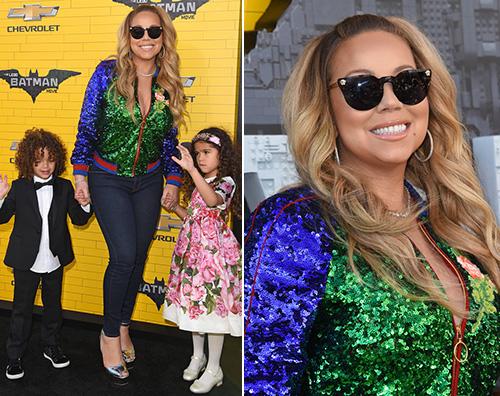 """Mariah Carey Mariah Carey presenta """"Lego Batman  Il Film"""" con i gemelli"""