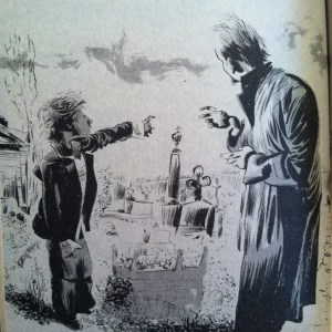 Illustration by Dave McKean from The Graveyard Book