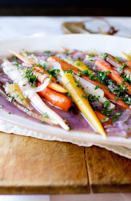 Rainbow Carrots Lyonnaise