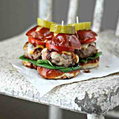 Mini Guinness Pork Burgers with Guinness BBQ Sauce