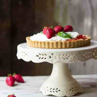 Strawberry Basil & Vanilla Bean Mascarpone Tart (Updated!)