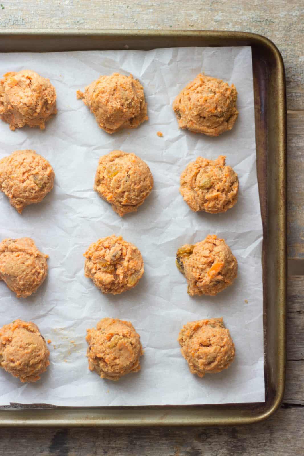 Coconut Flour Carrot Cake Cookies