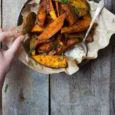 Spice-Roasted Sweet Potato Wedges