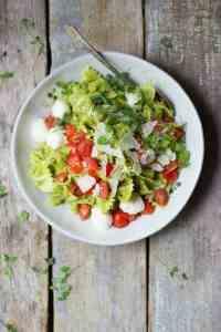 Caprese Pasta Salad with Asparagus Pesto