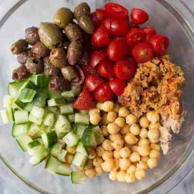 Mediterranean Chickpea & Tuna Salad