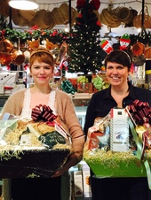 Gift baskets from The Gourmet Shop