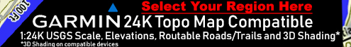 Compatible with Garmin 24K Topo Maps