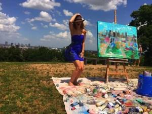 Paint Your Corporate Event with Live Painter Heidi Schwartz