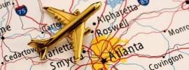 atlanta, gold, plane, aeroplane, map, georgia, signs, highway