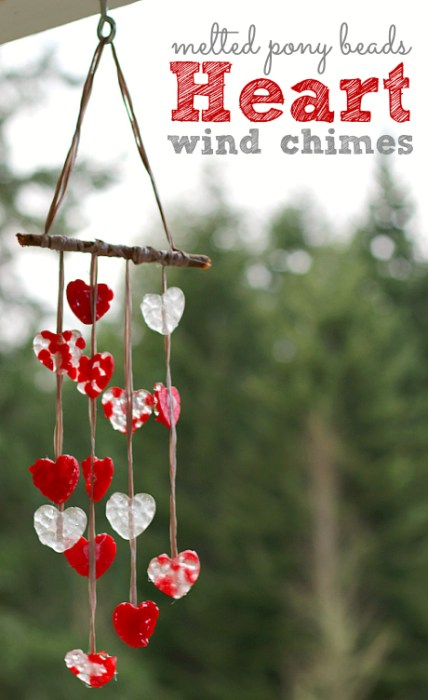 February, Valentines Day, heart, wind chimes, craft,Valentines Day Ideas