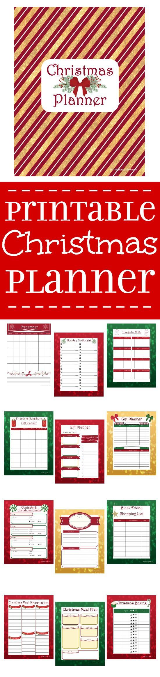 Printable Christmas Planner The Gracious Wife