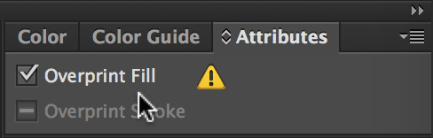 Overprint fill checkbox