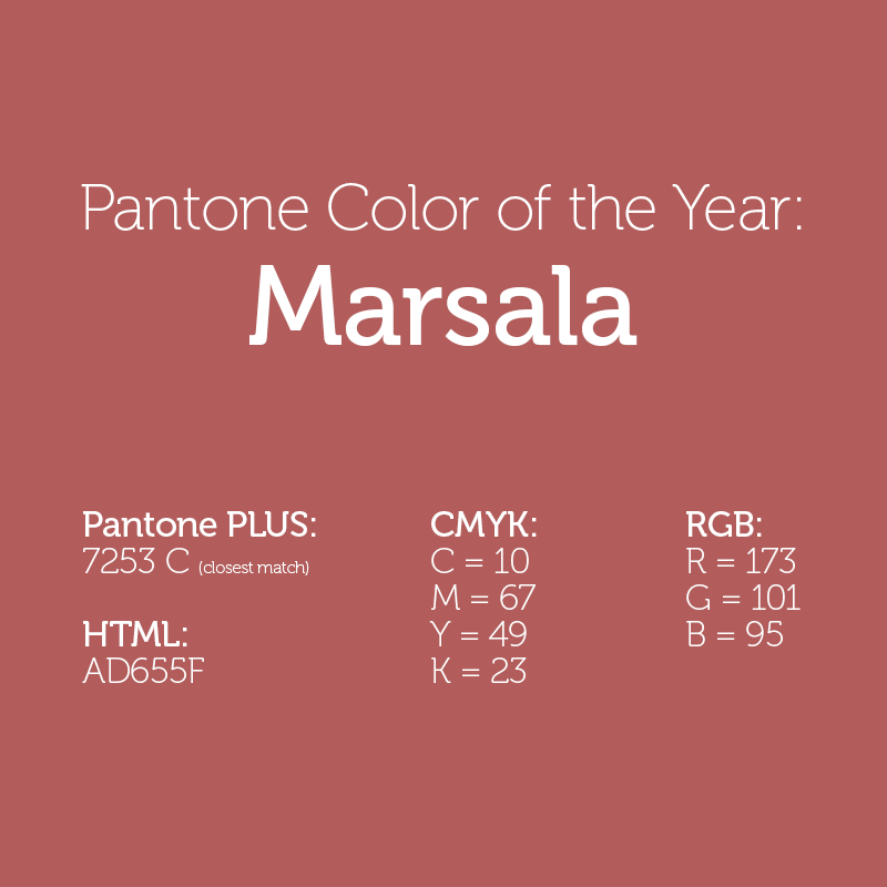 pantone 2015 color of the year marsala the graphic mac. Black Bedroom Furniture Sets. Home Design Ideas